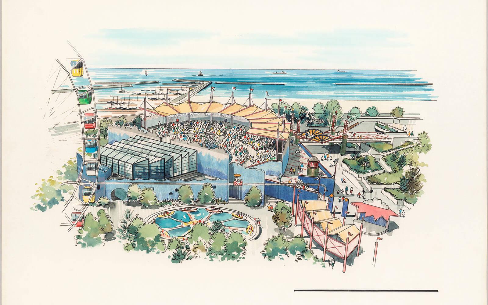 イルカライブ館の完成イメージ図